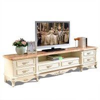 TV cabinet Tea table set combination living room solid wood