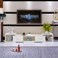 New retractable TV cabinet tea table combination