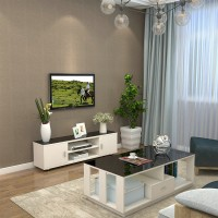 TV Cabinet simple style with tempered glass