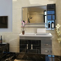 Bathroom stainless steel cabinet combination washstand basin