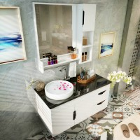 Bathroom simple modern PVC bathroom cabinet combination washout table