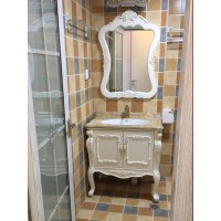 European style bathroom cabinet PVC cabinet combination