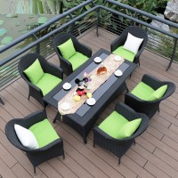 Outdoor Patio Furniture Garden Chair Suite Rattan Lounge Chair five piece set