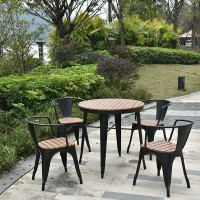 Iron and wood outdoor anti corrosive coffee chair and combination