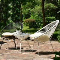 Outdoor PE rattan table and chair suite