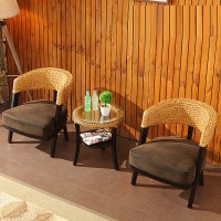 Rattan chair and table set style 2