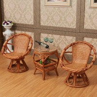 Rattan table and 2 chairs set