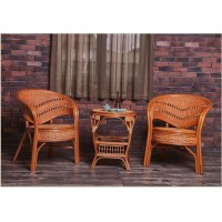 Rattan Cane Table with Chairs Suite