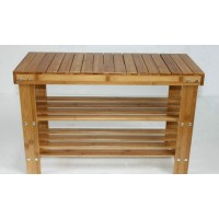 Bamboo stool for shoes
