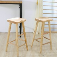 Modern simple bar stool solid wood