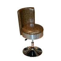 American Industrial Aluminum Bar Stool Swivel Chair