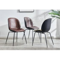 Leather Beetle Gubi Dining Chair