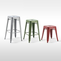 Metal bar stool cafe restaurant high stool