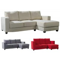Living room fabric sofa two seaters with chaise
