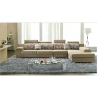 fabric sofa set of 1+3+chaise+ottoman,color can be various