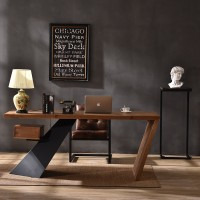 Loft Style Modern Office Solid Wood Desk Table For Office Internet Cafe Home Office