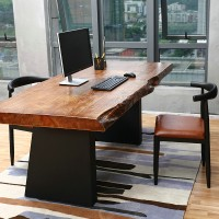 Simple Style Solid Wooden Office Desk