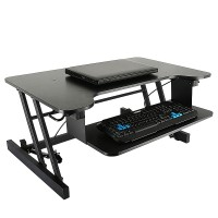 Modern Office Desk Table Able To Raise And Lower For Working With Sitting Or Standing