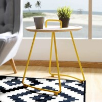 Creative side table with handle