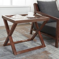 Nordic solid wood side coffee table