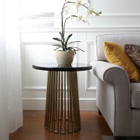 Stainless steel modern side table