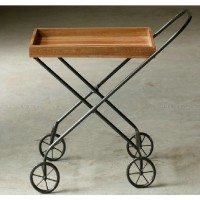 Trolley style side table