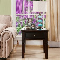 Solid Wood Square Side Table