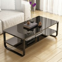 Coffee table with tempered glass