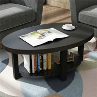 Coffee table of creative circular oval