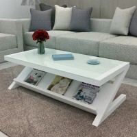 Z type Tempered glass coffee table