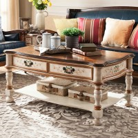 Living room solid wood combination coffee table