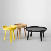 Muuto Nordic coffee table designer small coffee table modern simple living room creative coffee table round solid wood side