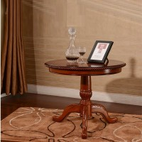 Solid wood small round tea coffee table