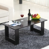 Coffee table wooden floating window small table