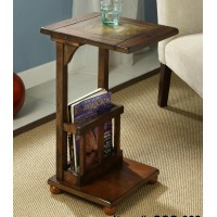 Solid wood sofa side table magazine table