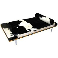 Cowhide Barcelona style Daybed with no piping