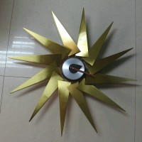 Turbine Style Wall Clock 6