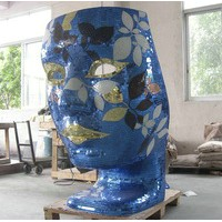 Face Mask Chair With Mosaic Tile
