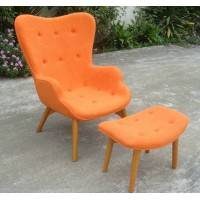 Grant Featherston chair with ottoman