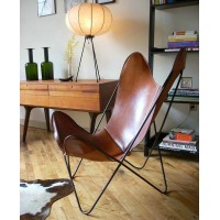 Hardoy Butterfly Chair in Leather