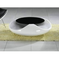 Oval saucer UFO coffee table