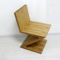 Zig Zag Wooden Chair