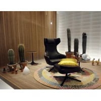 Vitra Style Grand Repos Reproduction Chair with ottoman