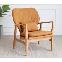 Oak and Linen Chair