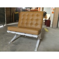 Barcelona Style Chair in Italian Leather