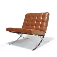 Barcelona Style Chair in Full Grain Leather