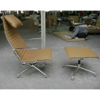 Eames Style Aluminum Group Executive Lounge Chair group