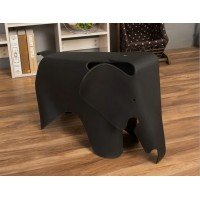 Eames Elephant Lounge Chair in Black