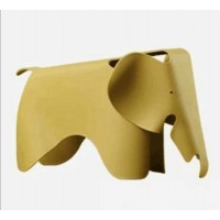 Eames Elephant Lounge Chair in Carcuma longa yellow