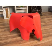 Eames Elephant Lounge Chair in red